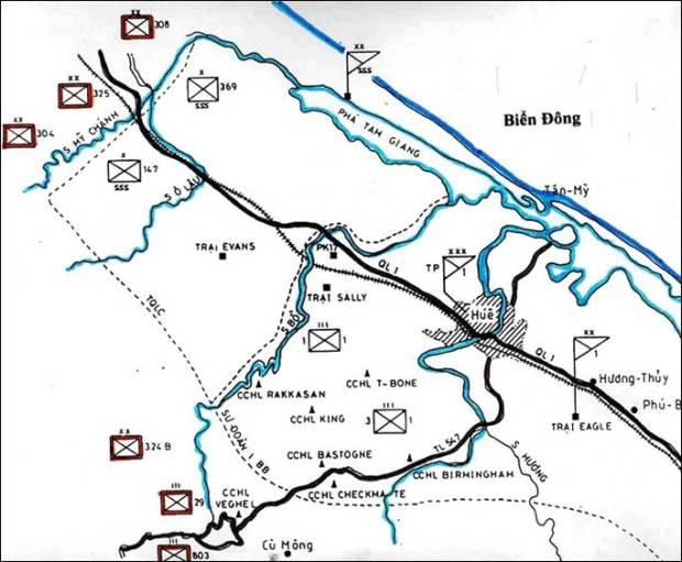 Bản đồ hành quân tái chiếm Quảng Trị