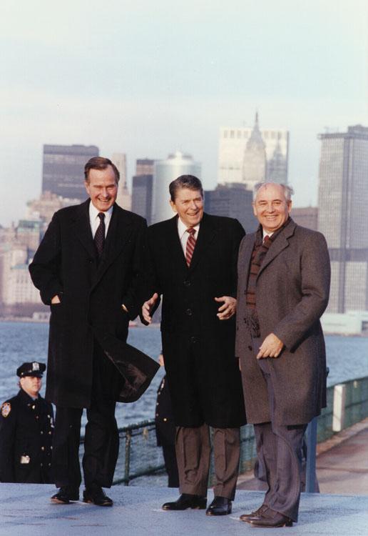 NewYork 1988: Reagan-Gorbachev-Bush
