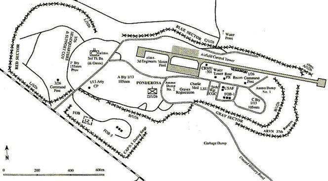 Map Khe Sanh Combat Base