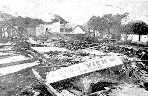 Bệnh viện huyện Trùng Khánh, Cao Bằng bị quân Trung Quốc tàn phá tháng 2.1979
