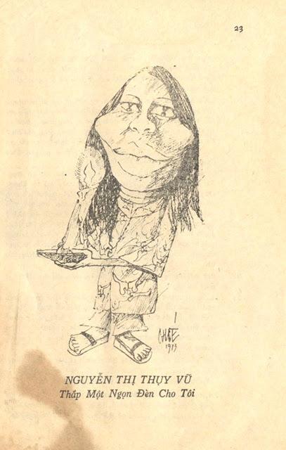 Nhà văn Nguyễn Thị Thụy Vũ dưới mắt họa sĩ Chóe