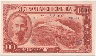 Giấy bạc miền Bắc, phát hành năm 1965 (Có in cả chữ Hán)