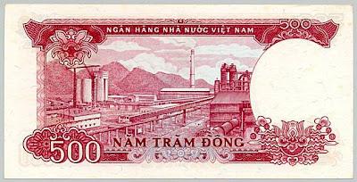 Giấy bạc mệnh giá 500 đồng được phát hành năm 1987