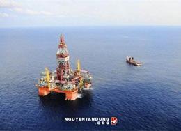Giàn khoan HD 981 trên Biển Đông (ảnh Xinhua)