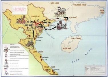 Lược đồ khởi nghĩa Hai Bà Trưng và cuộc kháng chiến chống quân xâm lược Hán (40-43)