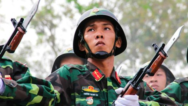 Các lực lượng vũ trang và chính quyền Việt Nam đang ráo riết chuẩn bị và thực tập diễu binh 'kỷ niệm 40 năm Đại thắng Mùa Xuân, Giải phóng Miền Nam, Thống nhất đát nước.'
