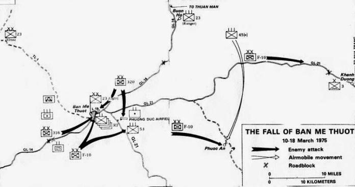Bản đồ chiến sự Buôn Mê Thuột