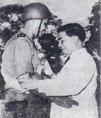 Trung Tá Dương Văn Minh và Tổng Thống Ngô Đình Diệm, 1955