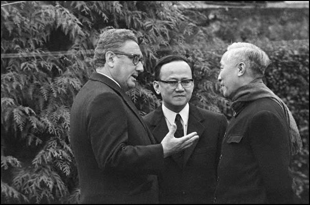 Ngoại trưởng Mỹ Kissinger và Lê Đức Thọ, bên lề hội nghị Paris 1973