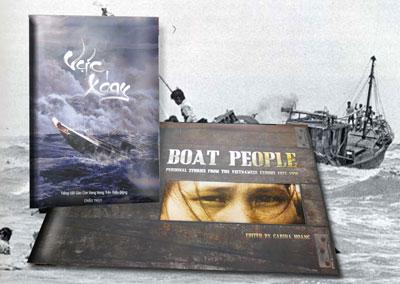Tác phẩm Vực Xoáy của tác giả Châu Thụy và tác phẩm Boat People bằng tiếng Việt với tựa đề Thuyền Nhân của Carina Hoàng