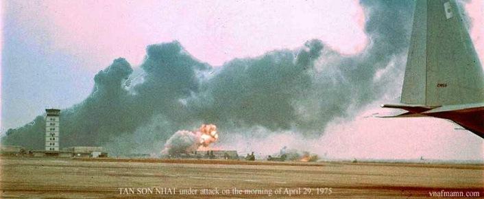 Phi trường TSN bị pháo kích 29/04/1975
