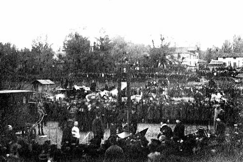 Toàn cảnh pháp trường nơi Nguyễn Thái Học và các đồng chí bị hành quyết ngày 17 tháng 6 năm 1930.
