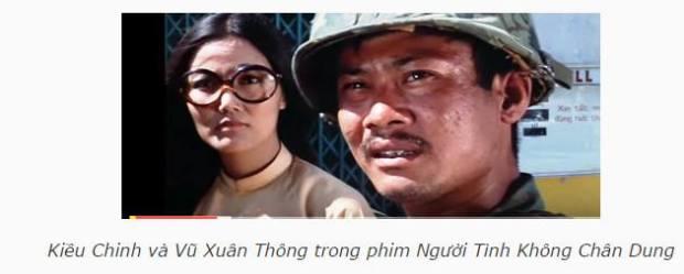 Kiều Chinh và Vũ Xuân Thông trong phim Người Tình Không Chân Dung