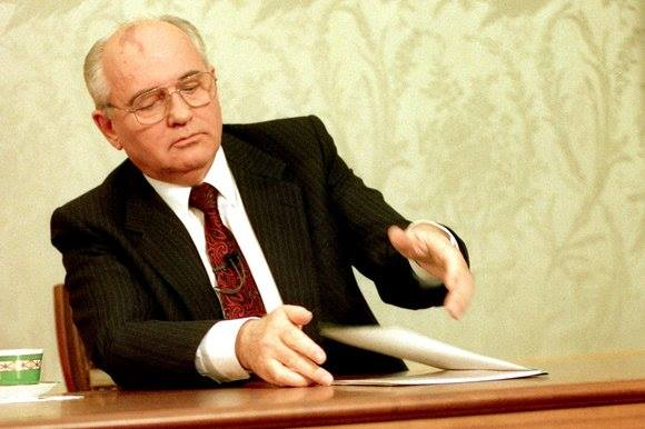 Mikhail Gorbachev khép lại bài diễn văn tối ngày 25 tháng 12, 1991