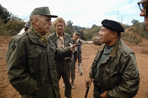 08 Feb 1971 --- Lt. General Hoang Xuan (South Vietnam Commander of I Corps) is shown outdoors with troops. --- Image by © Bettmann/CORBIS