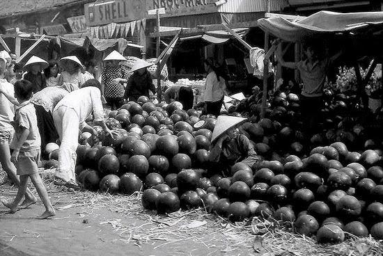 Chợ dưa hấu Tết, Sài Gòn những năm 1960