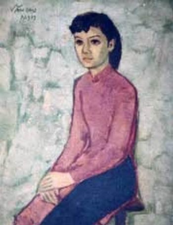 Bà Thuý Băng hồi trẻ qua nét vẽ của nhạc sĩ Văn Cao