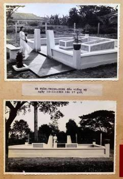 Bà Trần Trung Dung đến viếng mộ ngày 19/11/1963